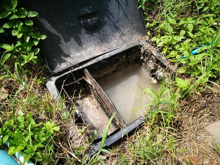 septic tank Standard-Bild