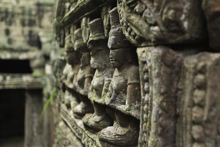 Reliefs at Angkor Wat, Cambodia
