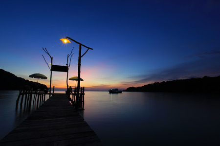 Sunrise at a lonely beach Standard-Bild