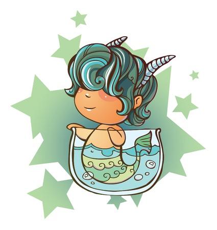 swiming: Little Capricorn