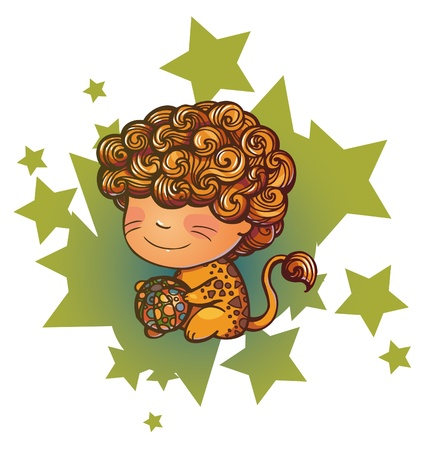 Little Leo playing with ball Stock Vector - 16622216
