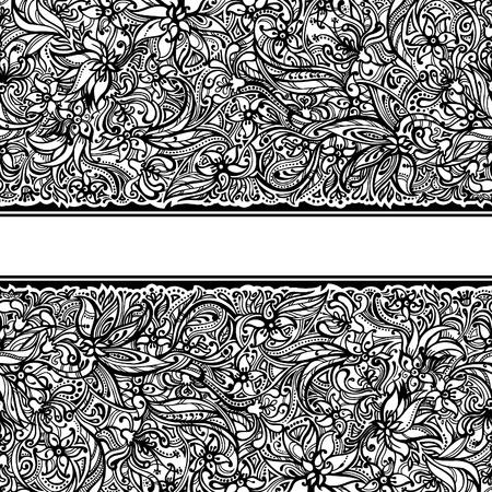 Seamless doodle border Stock Vector - 16622220