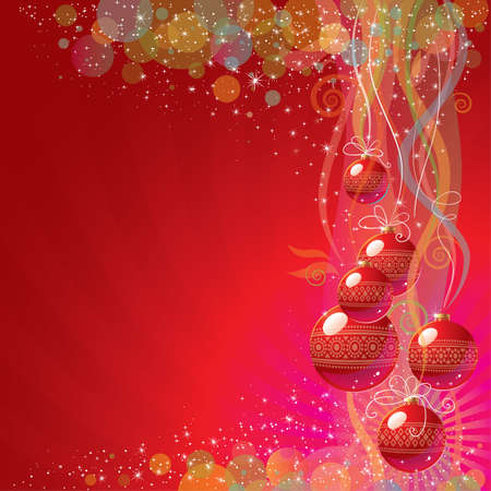Colorful Christmas background Stock Vector - 16839637