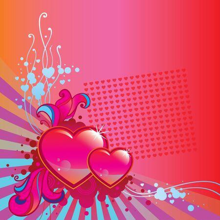 Valentine Day corner background Stock Vector - 16929005