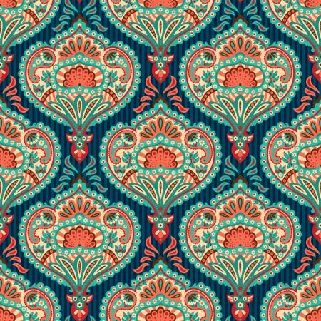 Oriental seamless paisley wallpaper pattern