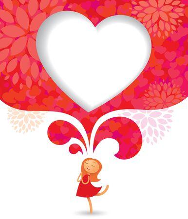 Valentines Day card background