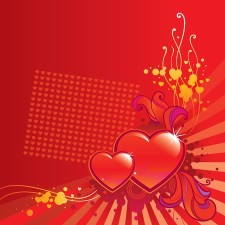 Valentine Day corner background Illustration