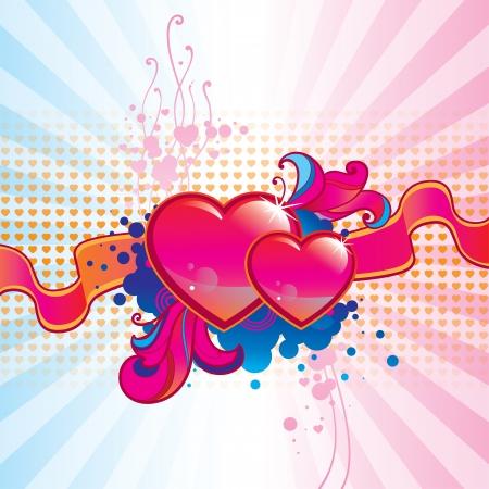 Valentine Day background Illustration