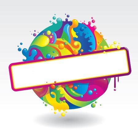 colour image: Ball of liquid paints
