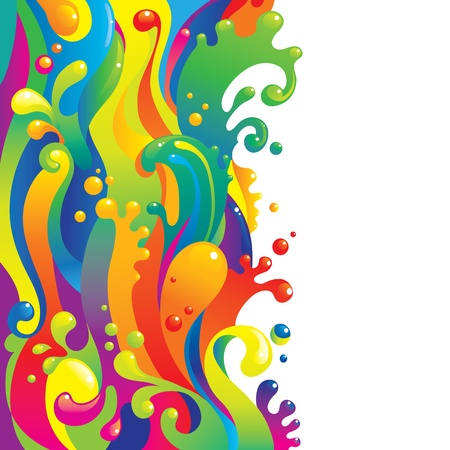 psychedelic background: Liquid paints