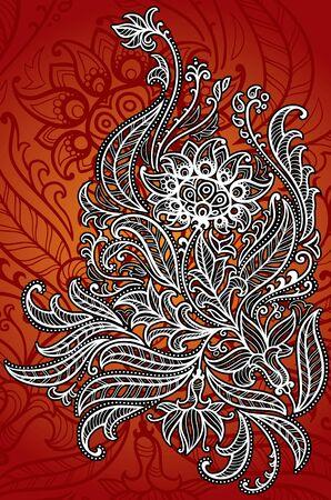 Vector illustration of flower ornament Illustration