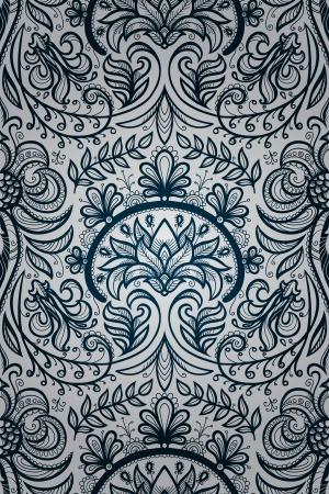 floral vector seamless wallpaper Illustration