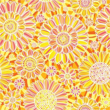 vector flower seamless pattern Illustration