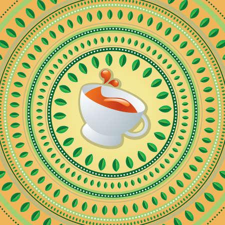 vector illustrationo ot tea cup