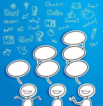 vector illustration of chating man Illustration