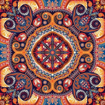textile image: Kerchief paisley vector pattern