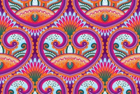 Seamless paisley pattern Illustration