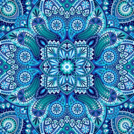 Vector paisley kerchief ornament Illustration