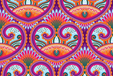 Vector seamless paisley wallpaper pattern
