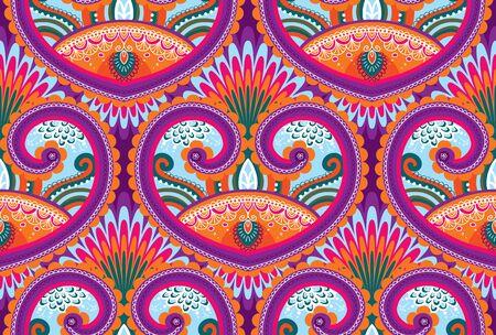 Vector seamless paisley wallpaper pattern