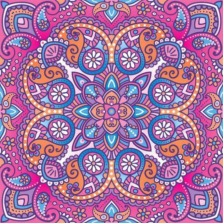 kerchief: Vector paisley kerchief ornament Illustration