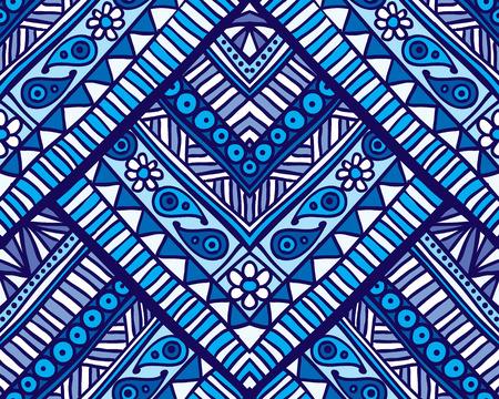Vector geometric seamless ornament