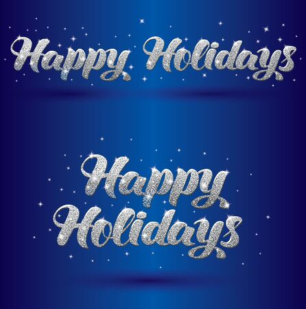 Vector illustration with greeting sign Happy Holidays