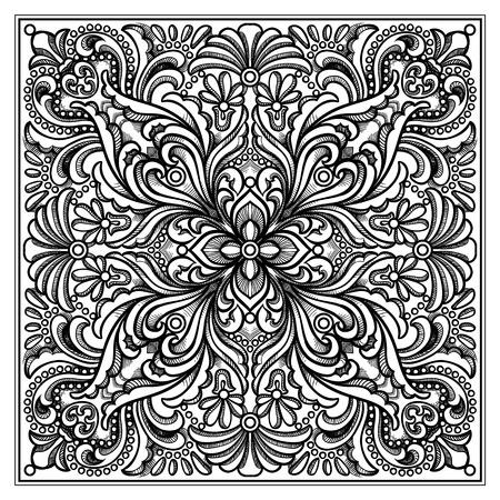 Vector square linear ornament Illustration