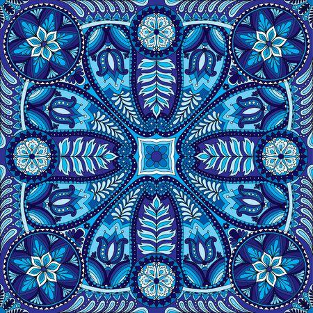 Vector illustration of boho oriental indian kerchief ornament