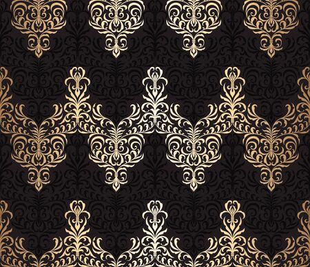 seamless damask: Vector seamless damask wallpaper pattern