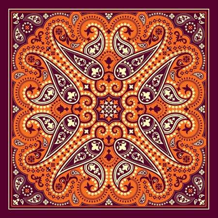 Mandala abstract cover template design.