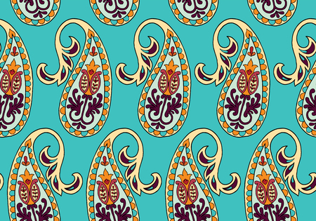 Vector seamless pattern for design template. Vintage ornate decor. Eastern style element. Luxury oriental decoration. Ornamental illustration for wallpaper, background, cover, textile.