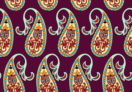 Vector seamless pattern for design template. Vintage ornate decor. Eastern style element. Luxury oriental decoration. Ornamental illustration for wallpaper, background, textile. Stock Photo
