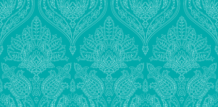 Vector seamless colorful pattern in turkish style. Vintage decorative background. Hand drawn ornament. Islam, Arabic, ottoman motifs. Wallpaper, fabric print.