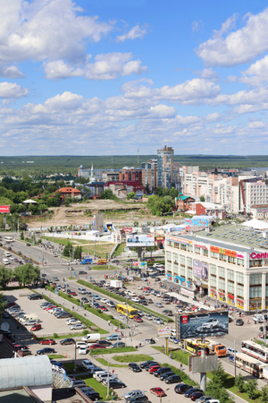 perm: PERM, RUSSIA - JUNE 25, 2014: Shopping center iceberg. 47 shopping centers are there in Perm