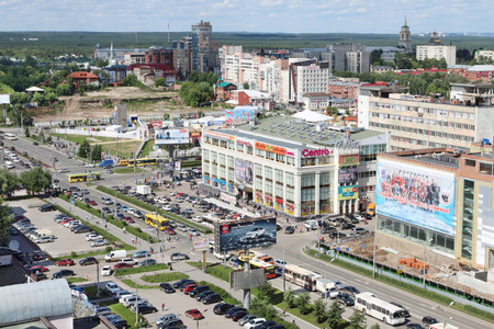 PERM, RUSSIA - JUNE 25, 2014: Second building of shopping center Iceberg. 47 shopping centers are there in Perm Editorial