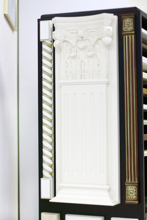 pilaster: Patterns of three simple and stylish pilaster for decoration of interior