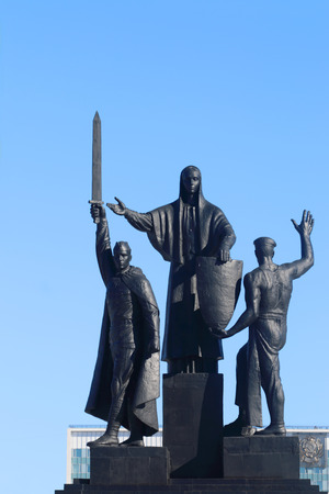 front raise: Monument to heroes of front and rear of Second World Wa in Perm, Russia