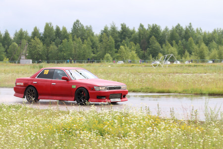 PERM, RUSSIA - JUL 22, 2017: Car at Open Ural Championship Drift 2017