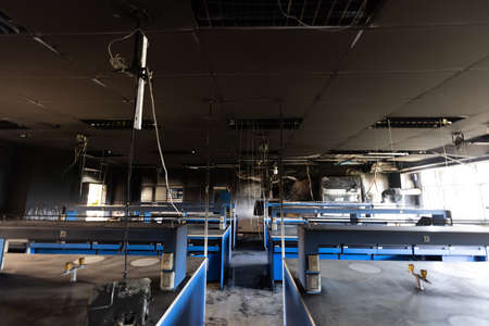 Science lab caused by fire. 版權商用圖片