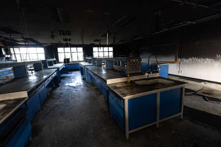 Science lab caused by fire.
