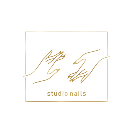 Nail studio logo Stock Illustratie