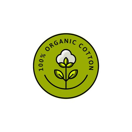 Natural Organic Cotton Liner Flat labels and badges