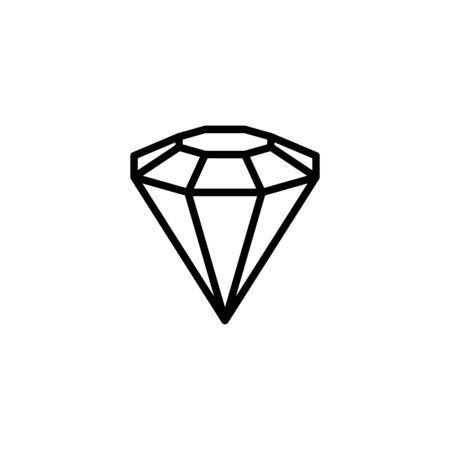 Diamond outline icon, modern minimal design style.