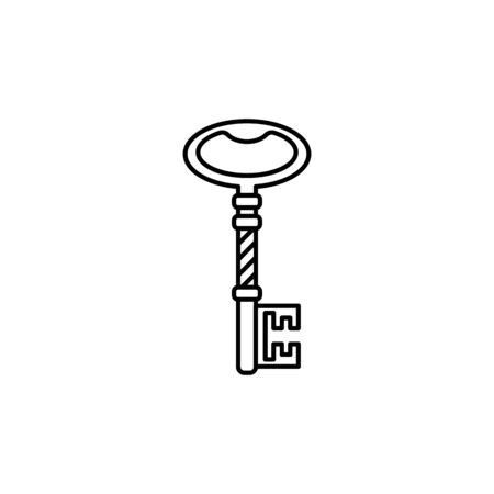 Outline vintage key. Illustration