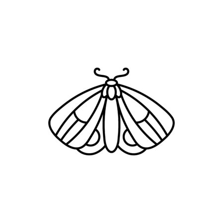 Butterfly icon Outlines in a minimalist style. Ilustração