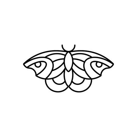 Butterfly icon in linear Minimal Trendy Style. Ilustração