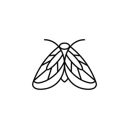 Moth icon Outlines in a minimalist style.