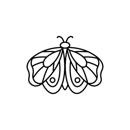 Butterfly icon in linear Minimal Trend Style.