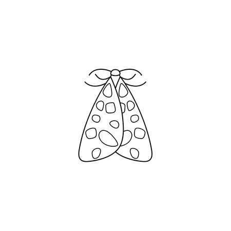 Butterfly icon in a linear minimalist trendy style. Vector outline illustrations of Insect Moths for  beauty salons, manicures, massages, spas, jewelry, tattoos, and handmade artists.